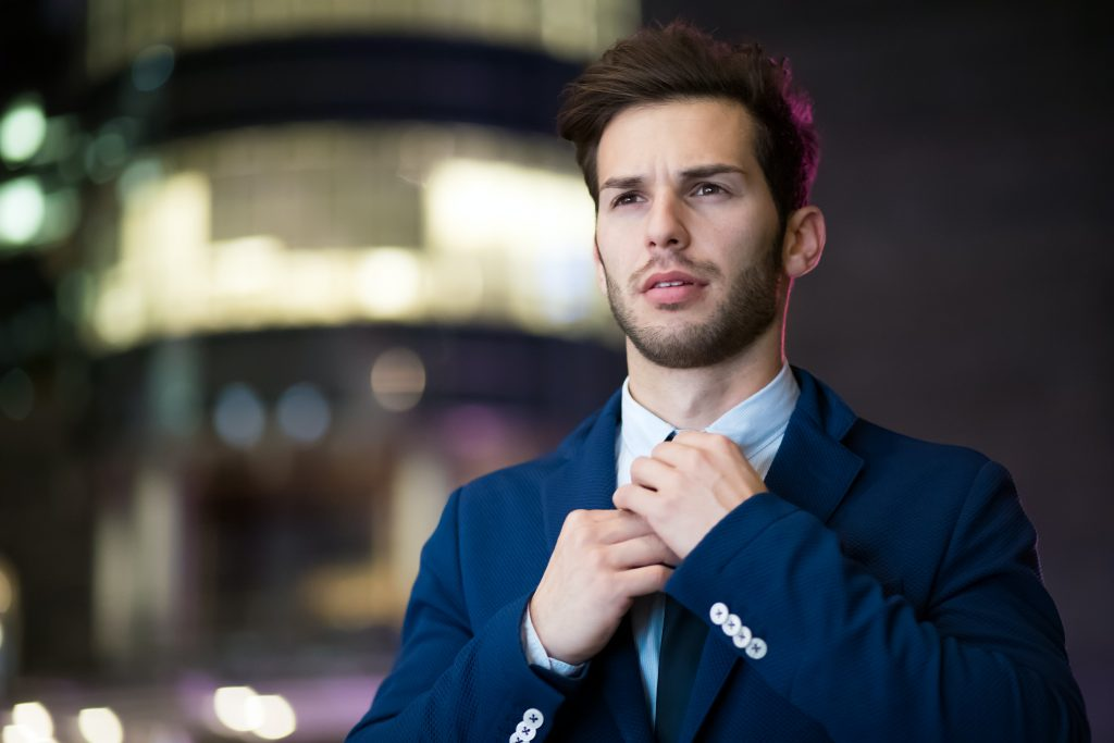 picture of young man in a suit - image of a typical entrepreneur