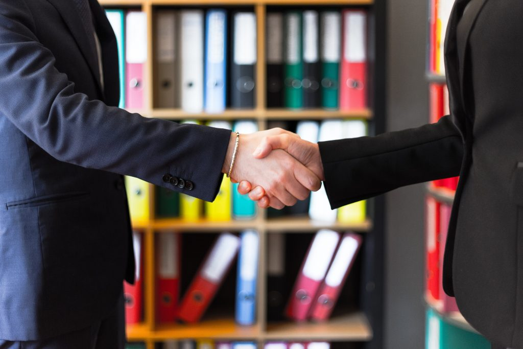 image of a handshake in business