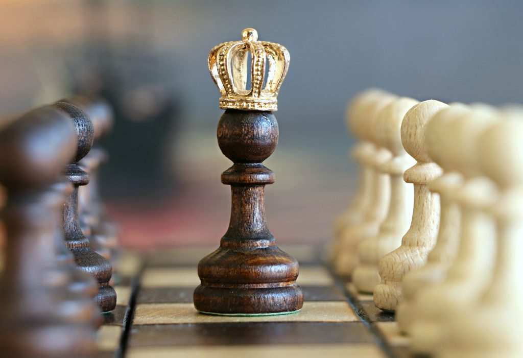 image of chess piece with crown on it