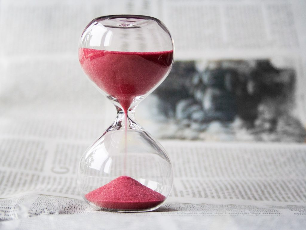 time in business - image of egg timer