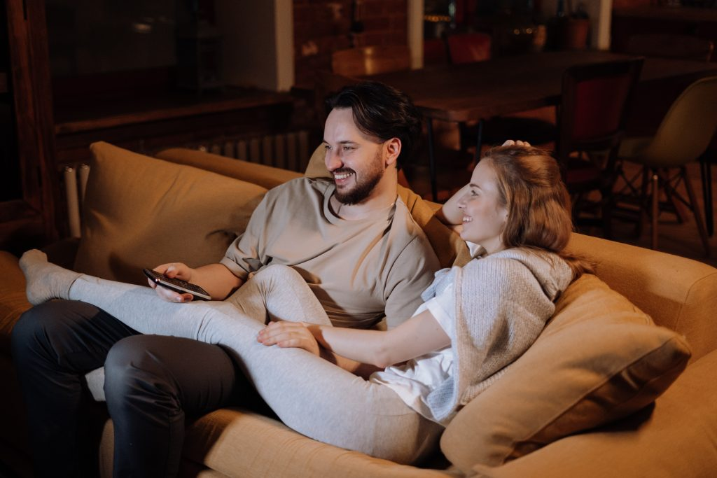couple sitting at home - ideas who to ask for about business innovation